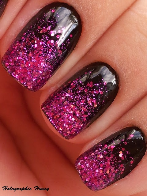 Shany cosmetics style make your nails look professional with shany or how about some glitterlicious nail art add just a little bit of glitter or glittery nail polish onto a brush and start at the tip brushing towards the prinsesfo Image collections